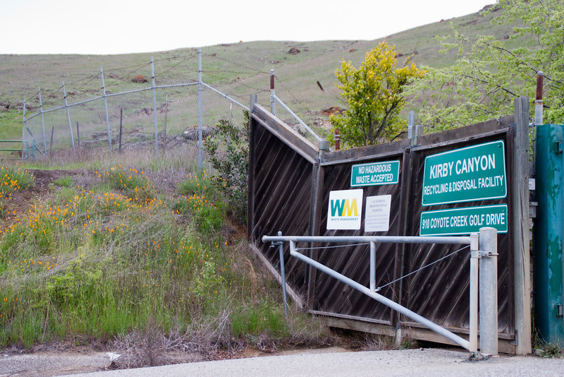 Kirby Landfill entrance. Who would think to look at a dump for a preserved habitat for rare and endangered plants and animals? But through an amazing collaboration among several organizations, they've done just that.