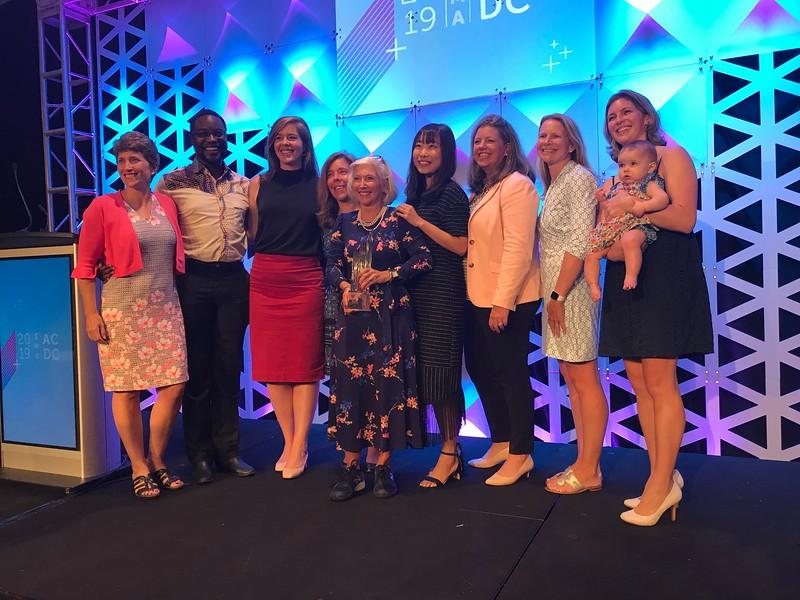 Anne Behnke Gourly Award in D.C. Sept 12, 2019