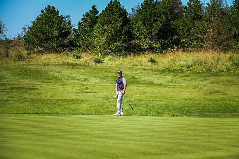 Arnór Ingi Finnbjörnsson.  Íslandsmót golf 2019 Grafarholt - 1. keppnisdagur. Mynd: seth@golf.is