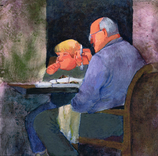 Dinner with Grandpa (10 x 10)