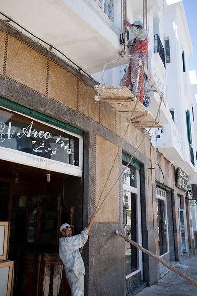 Painters at work, Tetouan, Morocco
