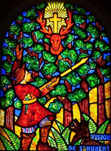Muids, Eglise Saint-Hilaire - The Vision of Saint-Hubert