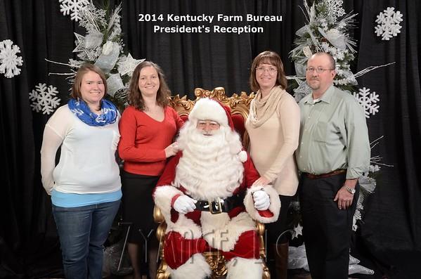 2014 KY Farm Bureau President's Reception Santa Claus Photos
