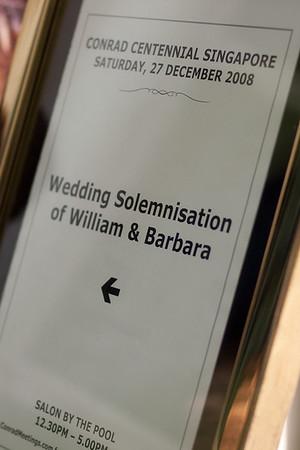 William and Barbara Wedding Solemnization