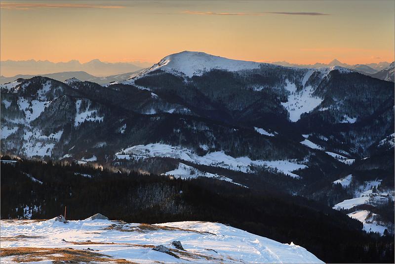 Mt. Porezen and the Dolomites