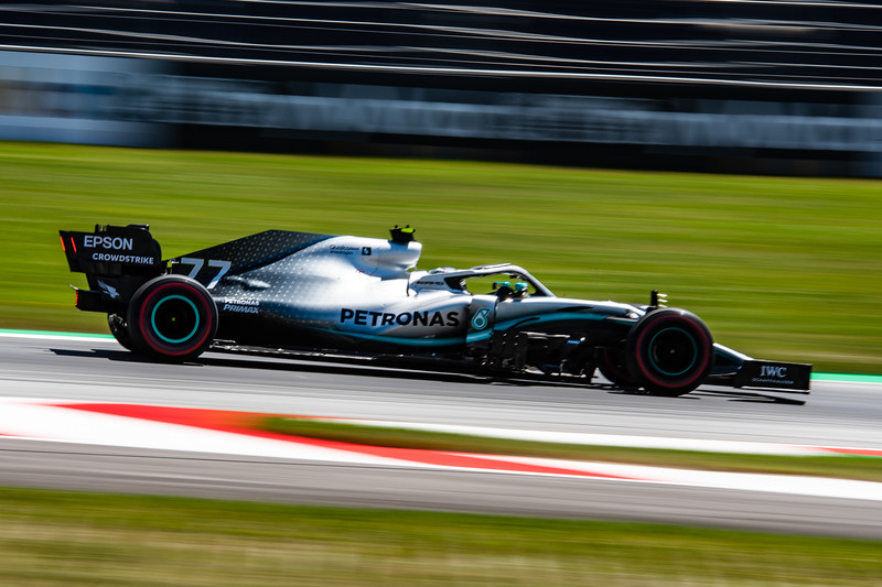 Spielberg/Austria - 28/06/2019 - #77 Valtteri Bottas (FIN, Mercedes, W10) during FP1 around the Red Bull Ring ahead of the Austrian Grand Prix