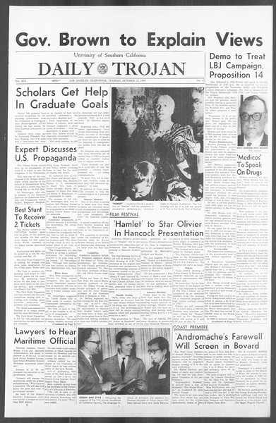 Daily Trojan, Vol. 56, No. 17, October 13, 1964