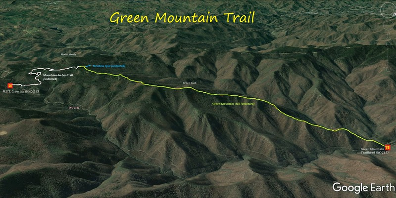 Green Mountain Trail Hike Route Map