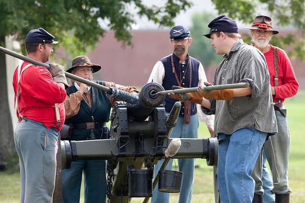 Civil War Re enactment Broadview Hts color