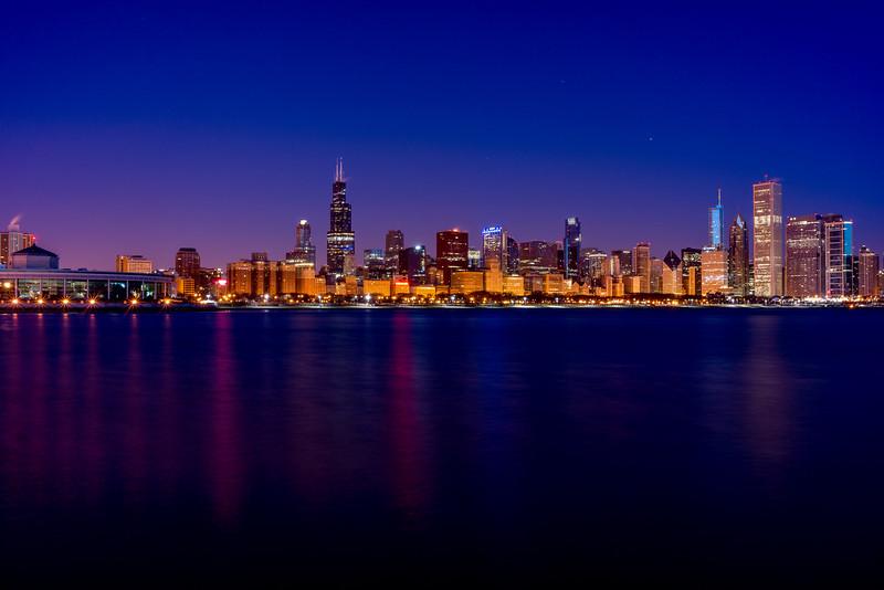 New Years Chicago Skyline