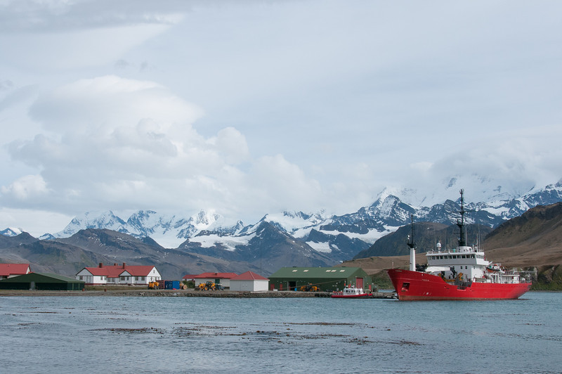 Views of Grytviken in South Georgia Island
