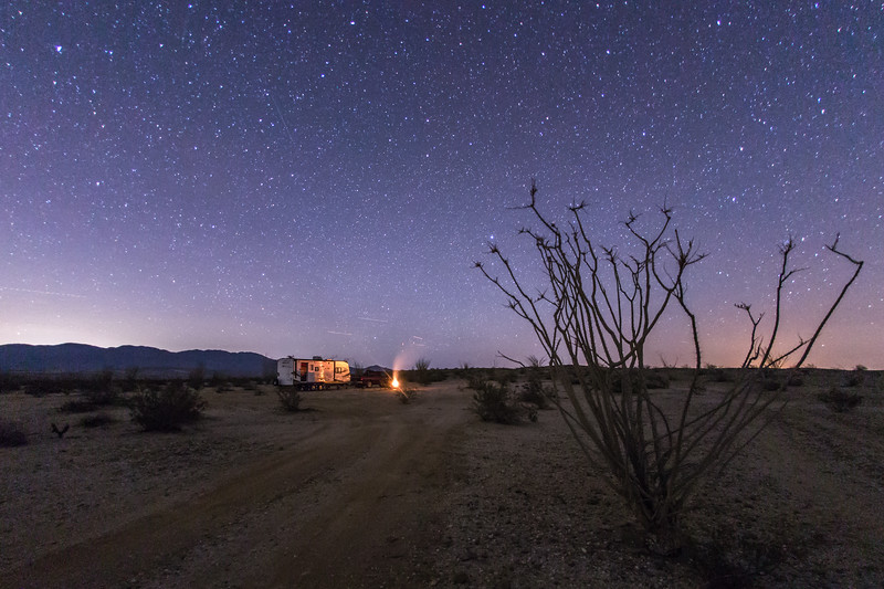 Clear and calm night in Anza-Borrego Desert State Park