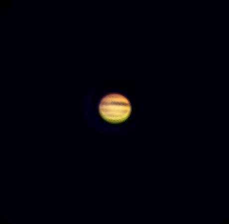 Jupiter, Bresser Skylux 700/70, afokálně Kodak Z1085IS, okulár 20mm