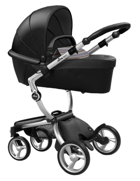 Mima_Xari_Product_Shot_Black_Flair_Aluminium_Chassis_Autumn_Stripes_Carrycot.png