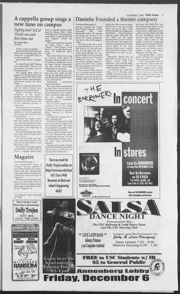 Daily Trojan, Vol. 129, No. 65, December 05, 1996