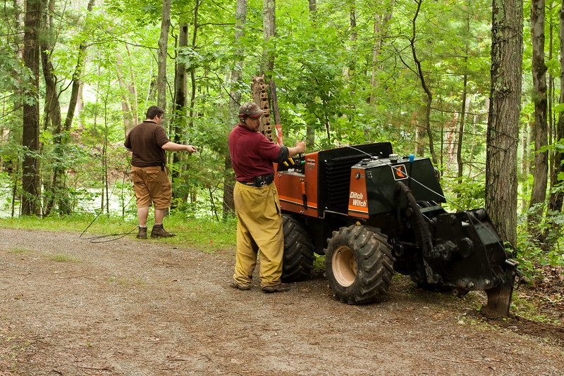 """Subcontractors for Verizon came to bury our FiOS cable using a """"ditch witch"""""""