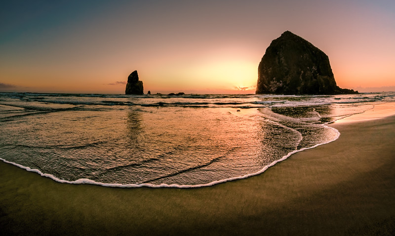 High Tide at Haystack Rock