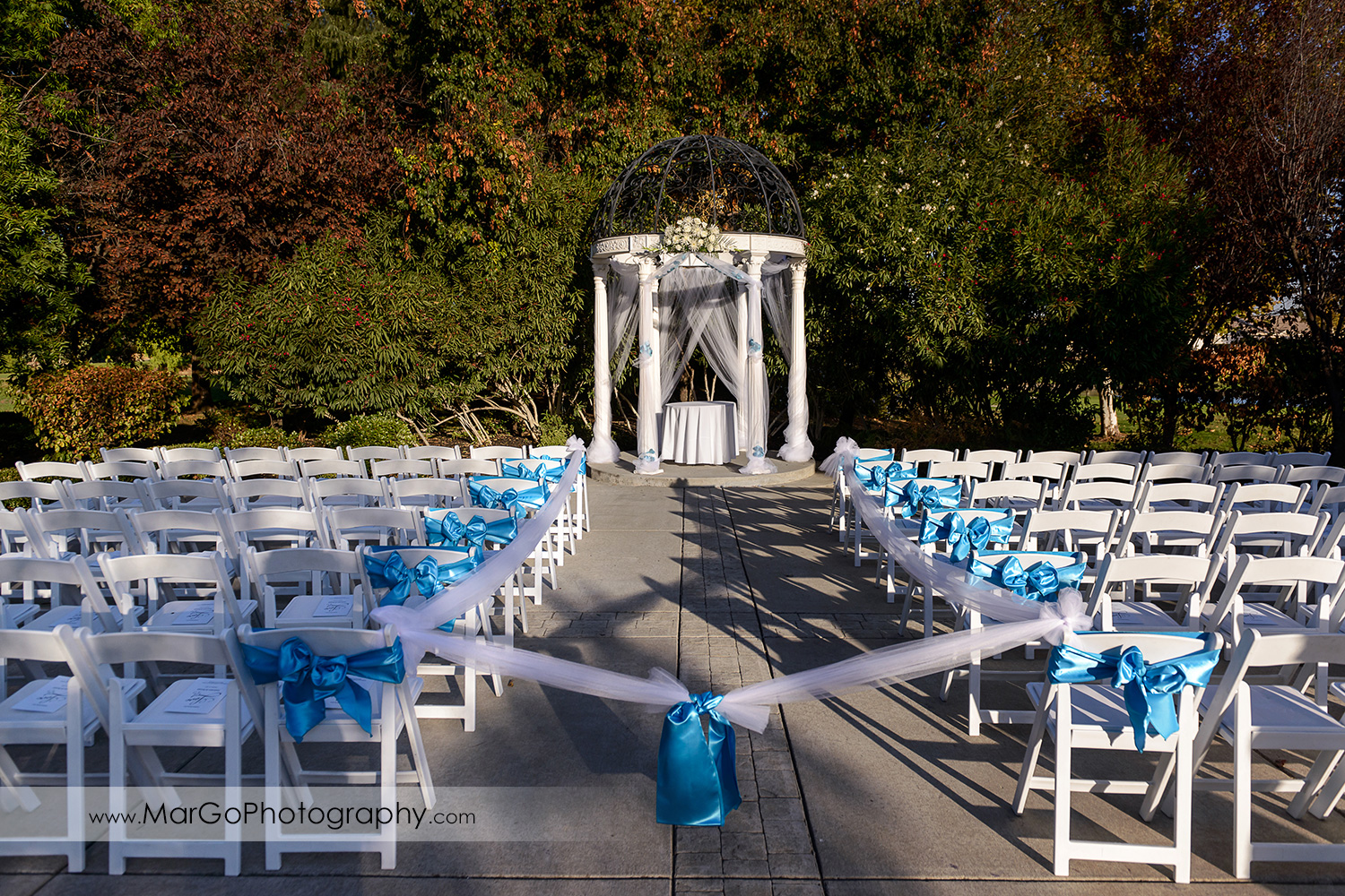 ceremony site at Wedgewood Wedding & Banquet Center in Brentwood