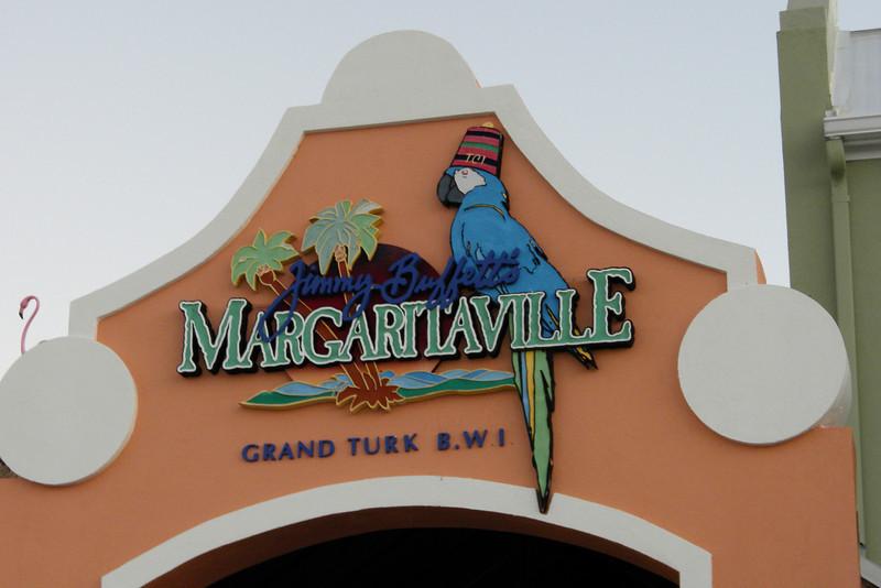 Margaritaville in the tourist area of Grand Turk