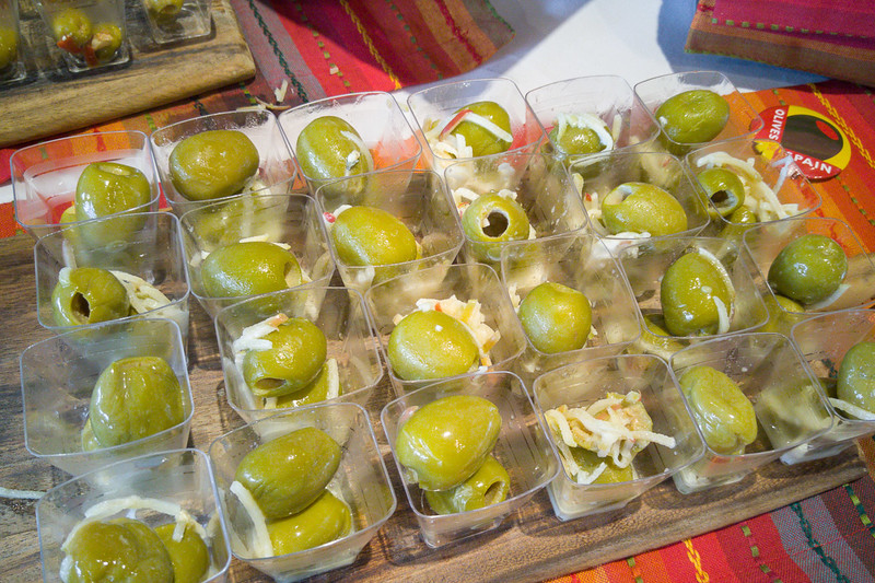 Olive Recipe: Queen Olives with Goat Cheese, Apple, and Honey