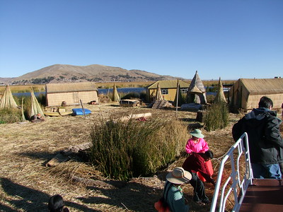 Lake Titicaca floating village