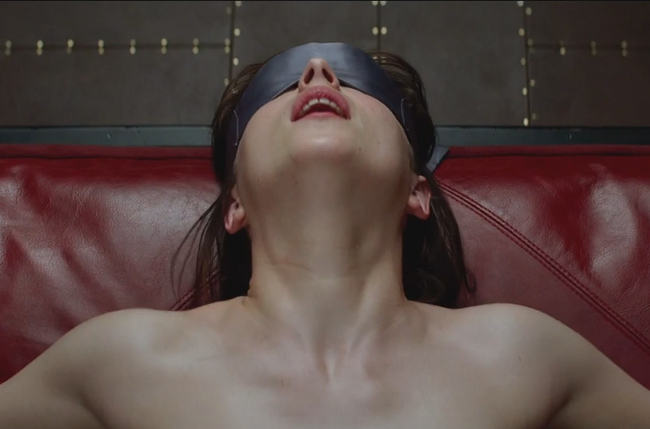 ". <p><b> Audiences were shocked and titillated last week when they got their first look at the ultra-racy trailer for this upcoming film � </b> </p><p> A. �Fifty Shades of Grey� </p><p> B. �Sex Tape� </p><p> C. �Frozen 2� </p><p><b><a href=""http://www.nydailynews.com/entertainment/movies/fifty-shades-grey-trailer-worse-book-article-1.1881388\"" target=\""_blank\"">LINK</a></b> </p><p>   (Screen grab from YouTube)</p>"