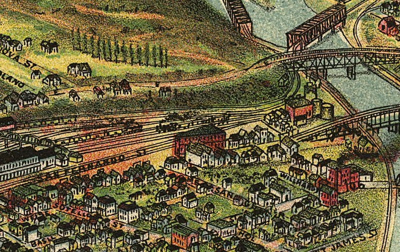 1894, Pierce Map