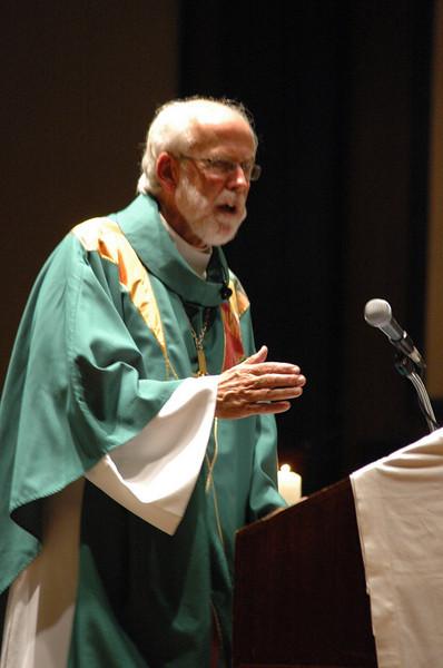 Presiding Bishop Mark S. Hanson preaching at opening worship