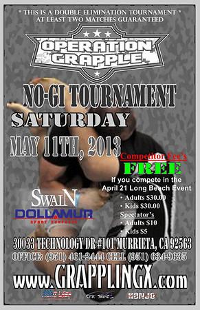 May 11 2013 Operation Grapple NOGI Tourney