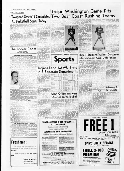 Daily Trojan, Vol. 51, No. 18, October 15, 1959