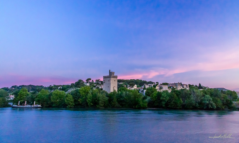 Early sunset on the Rhone River
