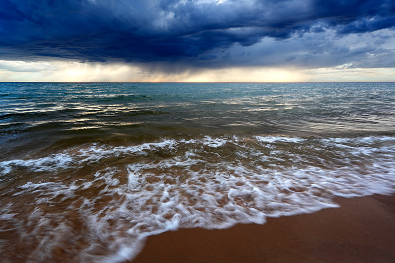 Summer Squall - Esch Road Beach (Sleeping Bear Dunes National Lakeshore - Michigan)