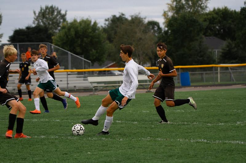 Holy Family Boys Varsity Soccer vs. Hutchinson, 9/26/19: Finn Dowling '21 (7)