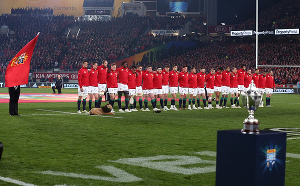 Lions during game 10 of the British and Irish Lions 2017 Tour of New Zealand, the third Test match between  The All Blacks and British and Irish Lions, Eden Park, Auckland, Saturday 8th July 2017 (Photo by Kevin Booth Steve Haag Sports)  Images for social media must have consent from Steve Haag