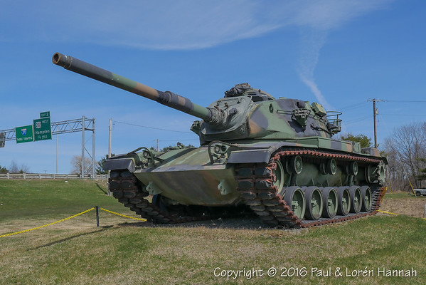 Cole Land Transportation Museum - Bangor, ME - M60A3 + Monuments