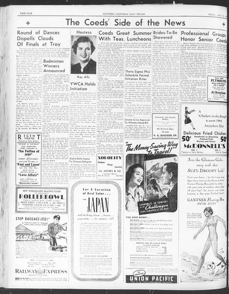 Daily Trojan, Vol. 30, No. 145, May 26, 1939