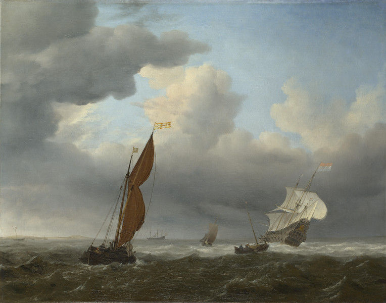 A Dutch Ship and Other Small Vessels in a Strong Breeze