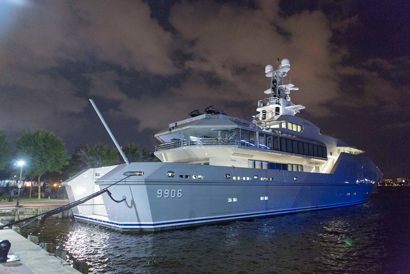 Lisa Persdotter And Charles Simonyi luxury yacht 'Skat'.