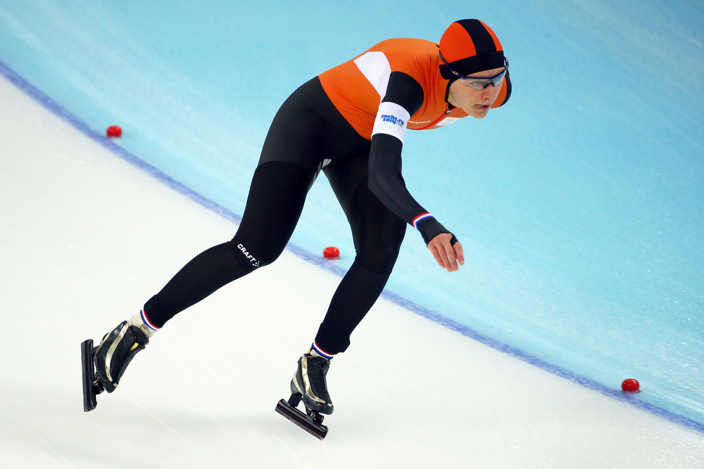 . Yvonne Nauta of the Netherlands competes during the Women\'s 5000m Speed Skating event on day twelve of the Sochi 2014 Winter Olympics at Adler Arena Skating Center on February 19, 2014 in Sochi, Russia.  (Photo by Streeter Lecka/Getty Images)