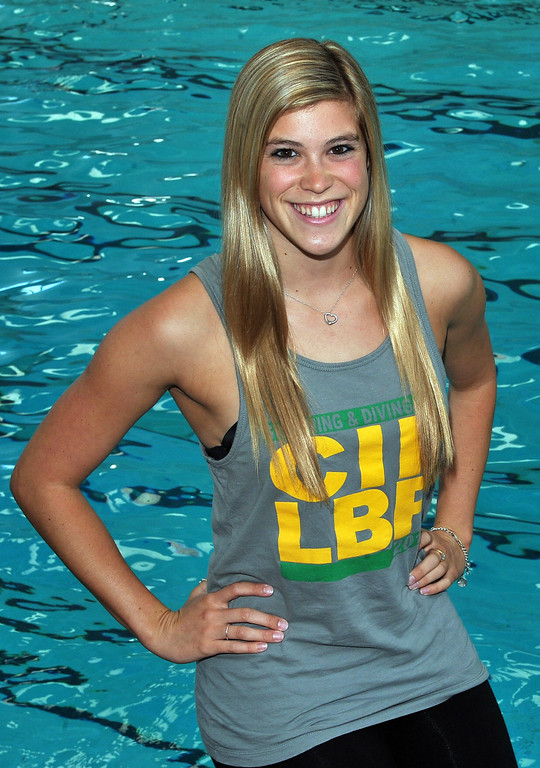 . 5/23/13 - All-Area girls swimmer of the Year Savannah Steffen from Poly High School. Photo by Brittany Murray / Staff Photographer