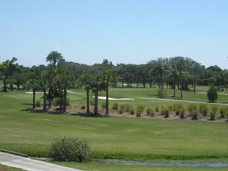 View of creek and golf course from our Florida Room