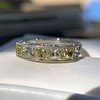 2.30ctw Fancy Yellow and White French Cut Diamond 5-Stone Band 14