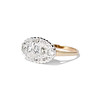 1.64ctw Vintage Princess Style Oval Cluster Ring 1