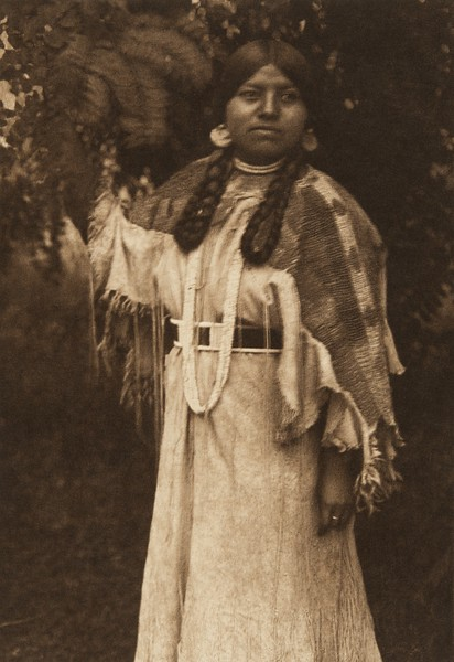 In the Forest - Cayuse (The North American Indian, v. VIII. Norwood, MA: The Plimpton Press, 1911)