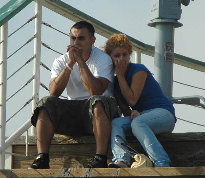 Couple on Santa Monica pier