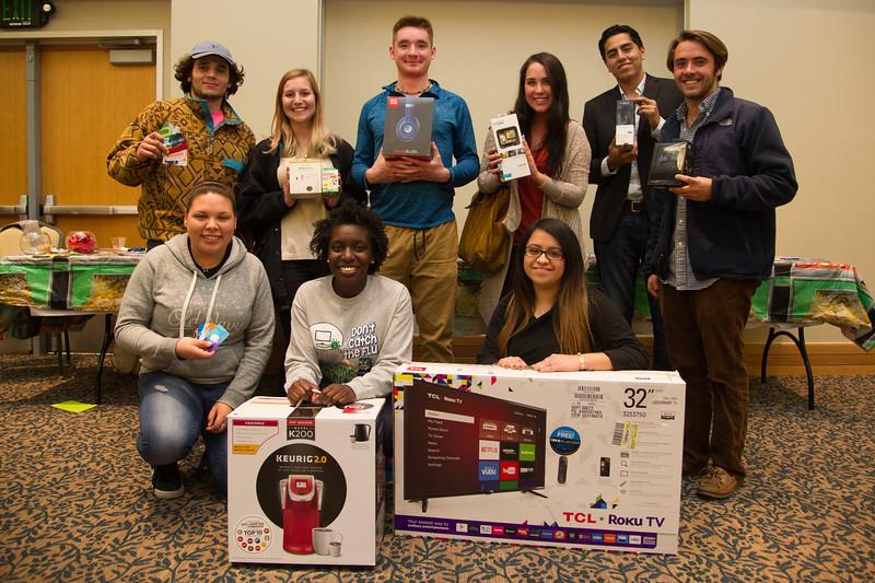 The prize winners of the Islanderino.