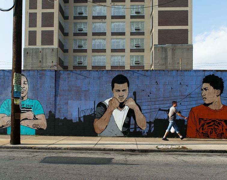Chris Stain mural, Philadelphia, PA