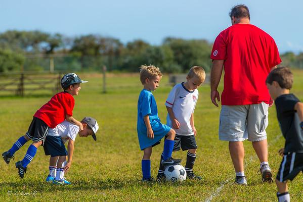 2012-09-14 - Soccer practice in Riis Park