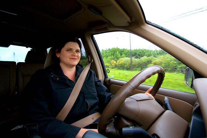 Darcie driving