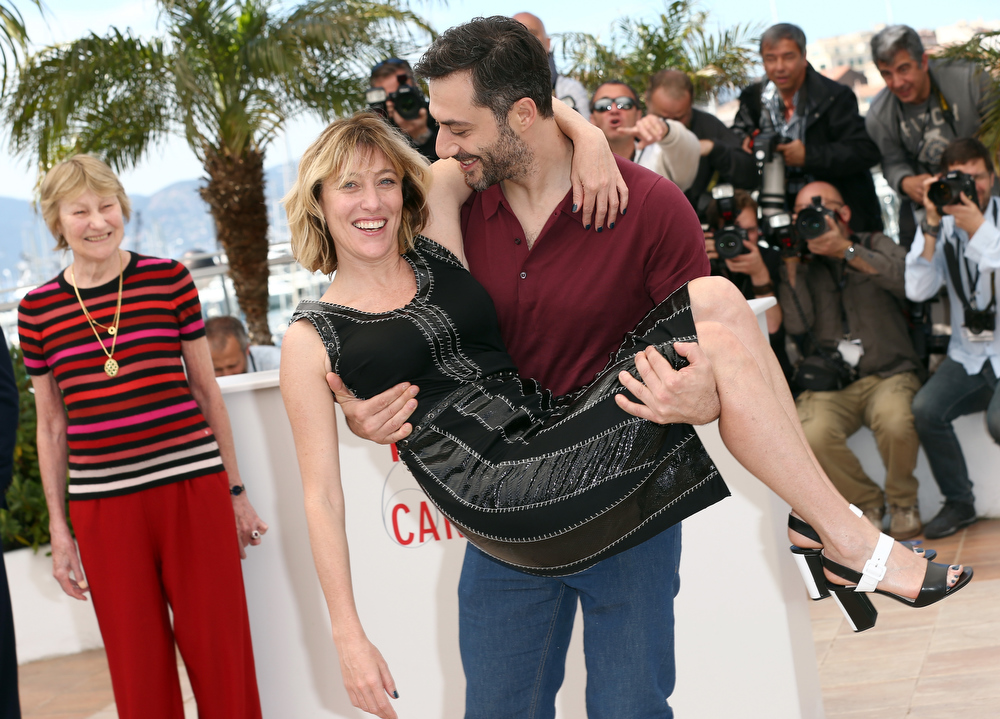 . Director Valeria Bruni Tedeschi and actor Filippo Timi attend the \'Un Chateau En Italie\' Photocall during The 66th Annual Cannes Film Festival at the Palais des Festivals on May 21, 2013 in Cannes, France.  (Photo by Andreas Rentz/Getty Images)